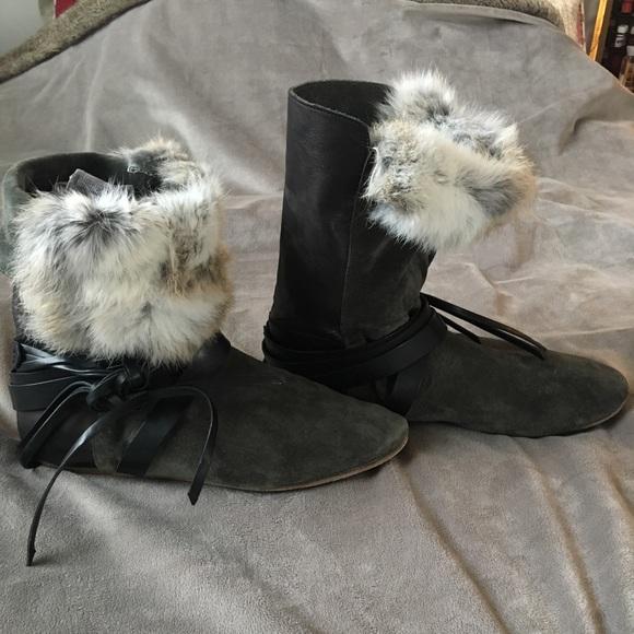 1884b011bef Isabel Marant Shoes - Isabel Marant Fur-Trimmed Boots